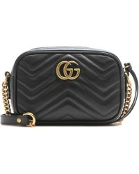 Gucci - Gg Marmont Mini Matelassé Leather Crossbody Bag - Lyst