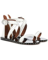 Givenchy - Studded Leather Sandals - Lyst