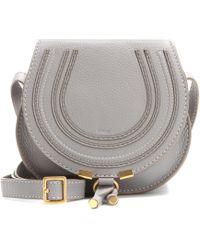 Chloé - Marcie Mini Textured-leather Shoulder Bag - Lyst