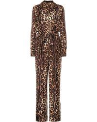 Dolce & Gabbana - Modo de seda estampado - Lyst