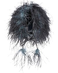 Prada - All Designer Products - Feather-trimmed Hat - Lyst