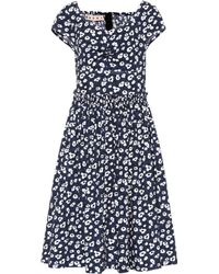 Marni - Floral-printed Cotton Dress - Lyst