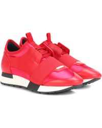 Balenciaga | Race Runner Leather Sneakers | Lyst