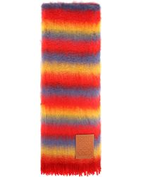 Loewe - Wool And Mohair-blend Scarf - Lyst