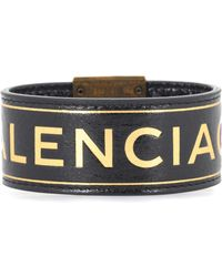 Balenciaga - Printed Leather Bracelet - Lyst