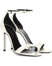 Saint Laurent - Amber 105 Leather Sandals - Lyst