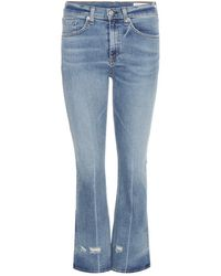 Rag & Bone - Jeans Crop Flare - Lyst