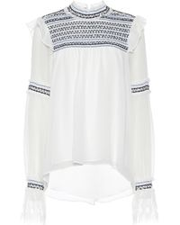 Jonathan Simkhai - Embroidered Silk Top - Lyst