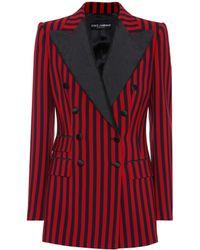 Dolce & Gabbana - Striped Crêpe Blazer - Lyst