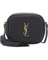 Saint Laurent - Monogram Blogger Leather Shoulder Bag - Lyst