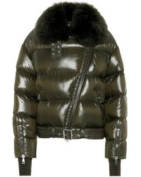Moncler - Foulque Fur-trimmed Down Jacket - Lyst