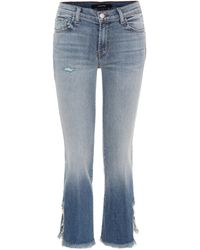 J Brand - Selena Mid-rise Cropped Jeans - Lyst