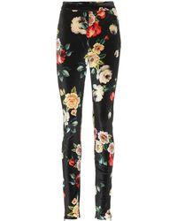 Attico - Pantalones de terciopelo florales - Lyst
