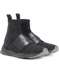 Balmain - Embellished Mesh Sock Sneakers - Lyst