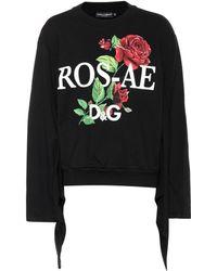 Dolce & Gabbana - Printed Cotton-jersey Sweater - Lyst