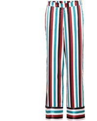 Asceno - Striped Silk Pyjama Trousers - Lyst