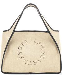 Stella McCartney - Stella Logo Linen Tote - Lyst