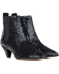 Tabitha Simmons - Effie Sequinned Ankle Boots - Lyst