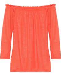 81hours - Pin Off-the-shoulder Linen Top - Lyst