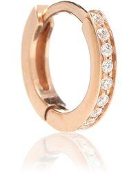 Repossi - Einzelner Ohrring Berbere aus 18kt Roségold mit weißen Diamanten - Lyst