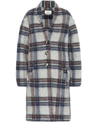 Étoile Isabel Marant Gabriel Checked Wool-blend Coat - Blue