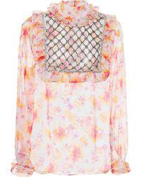 Dodo Bar Or - Crystal-embellished Floral Blouse - Lyst