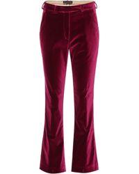 Etro - Velvet Pants - Lyst