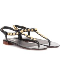 Balenciaga - Giant Studded Leather Sandals - Lyst