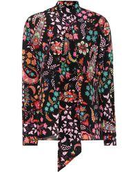 Etro - Printed Silk Blouse - Lyst