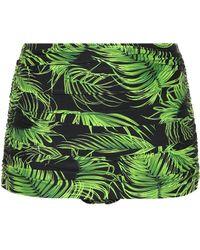 Norma Kamali - Bill Leaf-printed Bikini Bottoms - Lyst