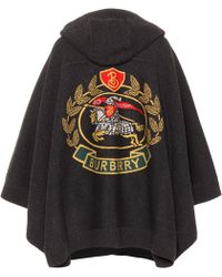 Burberry - Jacquard Wool-blend Cape - Lyst