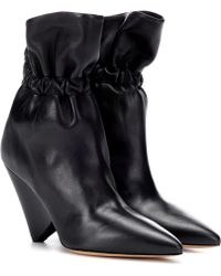 Isabel Marant - Lileas Leather Ankle Boots - Lyst