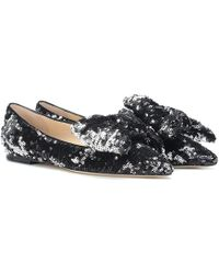 Jimmy Choo - Ballerine Gilly Flat con paillettes - Lyst