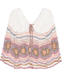Anna Kosturova - Carly Crocheted Cotton Top - Lyst