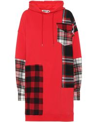 McQ - Plaid Patch Cotton Hoodie - Lyst