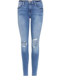FRAME - Distressed Jeans Le Skinny De Jeanne - Lyst