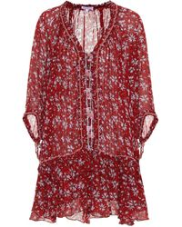 Poupette - Fleur Embroidered Cotton Dress - Lyst