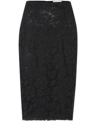 Valentino - Lace Pencil Skirt - Lyst