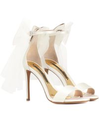 Alexandre Vauthier Bowdown 2 Satin Sandals