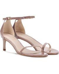 Stuart Weitzman - Nudistsong 45 Patent Leather Sandals - Lyst