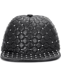 Valentino | Garavani Rockstud Leather Hat | Lyst