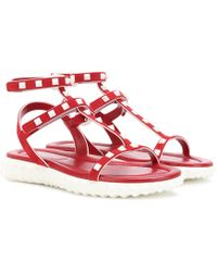 Valentino - Free Rockstud Leather Sandals - Lyst