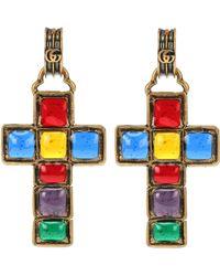Gucci - Cross Pendant Earrings - Lyst