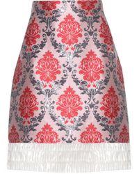 Mary Katrantzou - Renzie Brocade And Translucent Skirt - Lyst