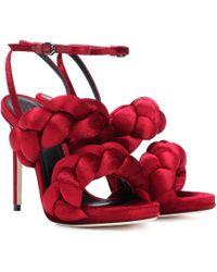 Marco De Vincenzo - Velvet Sandals - Lyst