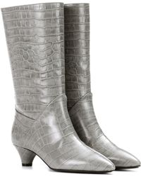 Marni - Embossed Leather Boots - Lyst