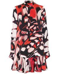 Alexander McQueen - Butterfly-printed Silk Satin Dress - Lyst