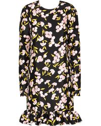 Marni - Floral Printed Cotton Dress - Lyst