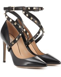 Valentino - Studwrap Leather Court Shoes - Lyst