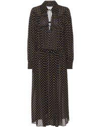 JOSEPH - Crosby Polka-dot Printed Silk Dress - Lyst